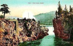 Post Falls Idaho ID 1908 Spokane River Post Falls Collectible Vintage Postcard