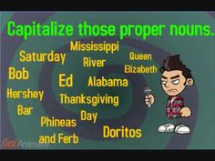 """Give Me Your Capital Letters""- Song by EDROCKER teaches capital letters and proper nouns - YouTube"