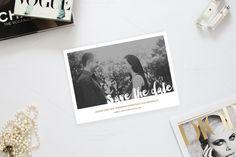 Romantic Photo Save the date ~ Invitation Templates on Creative Market