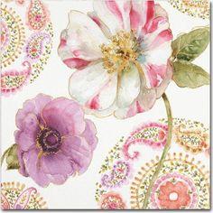 Trademark Fine Art Rainbow Seeds Paisley I Canvas Art by Lisa Audit, Multicolor