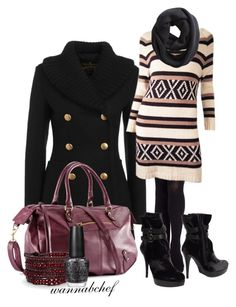 Sweater Dress by wannabchef on Polyvore featuring polyvore fashion style Eternal Sunshine Creations Vivienne Westwood Anglomania Stuart Weitzman H&M Chan Luu Barneys New York OPI clothing