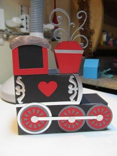 I love how my Valentine train turned out!  It was easy to make the block style card into a train.  Check out my blog for more pictures.  You will see a picture of my first attempt at a more Whimsical train...  http://callalilystudioblog.blogspot.com/2013/01/valentine-train-block-card.html#comment-form