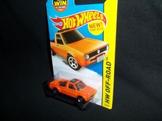 Hot Wheels Volkswagen Caddy Pickup Truck Orange HW Off-Road 124/250 2015 VW #HotWheels #Volkswagen