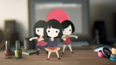 I wanted them to dance on my desk before going to global.-- Perfume global site project 001http://www.perfume-global.com Motion data and MusicGo to