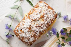 Banana Coconut Bread with Orange Glaze