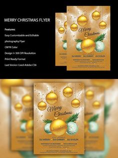 Merry Christmas Flyer Template. Flyer Templates. $6.00