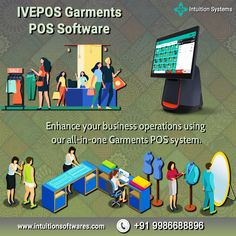 The best Garment Shop POS Software from Intuition Systems. Grow your business with our IVEPOS Garments POS software. #ivepos #possoftware #androidpos #billingsoftware #software #pos #pointofsale #garments #garmentsshoppos #smallbusiness Retail Pos System, Point Of Sale, Growing Your Business, Intuition, All In One, Software, Shop, Store