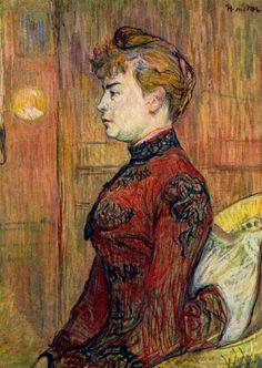 Henri de Toulouse-Lautrec >> Le policier fille | (huile, reproduction, copie, tableau, oeuvre, peinture).