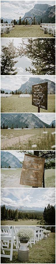 Wedding Summer, Wedding Ceremony Decorations, Banff, Rocky Mountains, Weddingideas, Wedding Photos, Wedding Photography, Weddings, Outdoor Decor