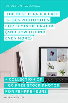 The Best 15 Paid & Free Stock Photo Sites for Feminine Brands – and how to find even more Stock photos are important for your online presence but it can be hard to find good quality ones. Here's a list of 15 top paid and free stock photo sites you must Photography Templates, Photography Branding, Photography Business, Photography Tips, Stock Photo Sites, Free Stock Photos, Business Branding, Business Design, Business Tips