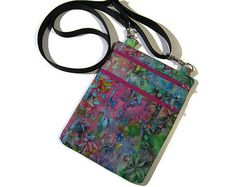 Fabric crossbody bag by SewFancyByCherie