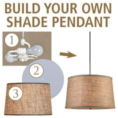 how to make your own hanging drum light Has a link for double