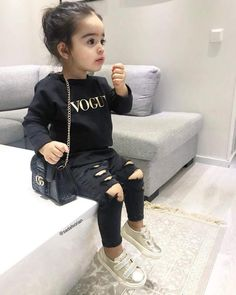 Outfit is everything! Outfit is everything! Outfit is everything! Outfit is everything! Cute Little Girls Outfits, Kids Outfits Girls, Toddler Girl Outfits, Cute Baby Outfits, Boy Toddler, Toddler Girl Style, Baby Style, Cute Kids Fashion, Little Girl Fashion