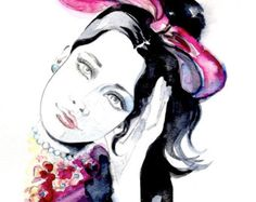 Chanel Original Fashion Watercolor Illustration by Lana Moes