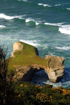 Tunnel Beach, Dunedin, New Zealand (The view from my buddies yard :-)