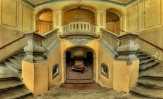My Photos Of Stairs In Abandoned Buildings That I've Collected Over The Years-Christian Richter. Abandoned Buildings, Abandoned Mansions, Abandoned Places, Stairway To Heaven, Urban Decay Photography, Fashion Photography, Photo D'architecture, Building Stairs, Building Photography