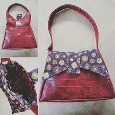 Sac Ava en simili turtle rouge cousu par Séverine - Patron sac vintage Sacôtin