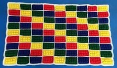 Crochet Lego Blanket Lego Blocks Blanket by HaniasCreations