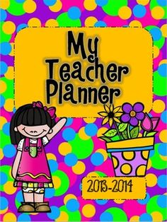 My Brightly Colored Teacher Planner {2013-2014}