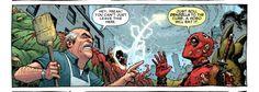 Dudes! Just let the homless men eat Godzilla xDDD #deadpool #comic #comics