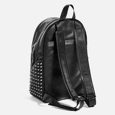 "BLACK STUDDED BACKPACK FOR 13"" LAPTOP-Backpacks-BAGS-MAN | ZARA Singapore"