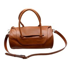 The Charlie Noble Leather Bag Brown & Brown Piping | Charlie Noble | Wolf & Badger