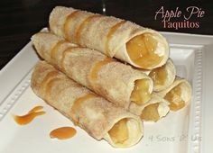 Apple Pie Taquitos: All the makings of a great apple pie, in a fun taquito shape. It's genius!
