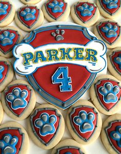 Paw Patrol cookie cake top