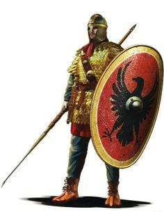 Legionista 400-500 AD. Rys. Christos Giannopoulos