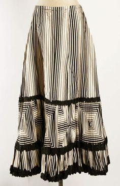 Petticoat ca. 1908  LOVE the stripes and how they create fun shapes!