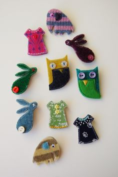 Colourful Brooches