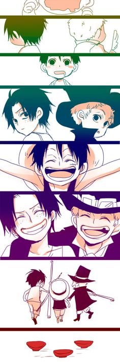 Doujinshi One Piece Watch One Piece, One Piece Ace, One Piece Luffy, One Piece Seasons, Pirate Kids, Ace Sabo Luffy, The Pirate King, 0ne Piece, One Piece Fanart