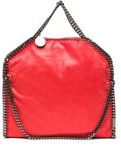 Stella McCartney Small Falabella Fold Over Tote in Amaryllis on shopstyle.com