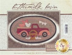 Mini Vintage Truck Thru The Year - February Pattern | Shabby Fabrics Wool Applique Patterns, Sewing Appliques, Felt Patterns, Applique Quilts, Applique Ideas, Shabby Fabrics, Penny Rugs, Book Quilt, Vintage Trucks