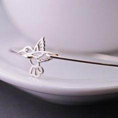 georgiedesigns - Sterling Silver Hummingbird Bracelet, Sterling Silver Hummingbird Jewelry, Bangle Bracelet