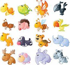 Vector De Dibujos Animados Lindo Animales-dibujos Animados Del Vector-vector Libre Descarga Gratuita