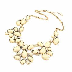 Vintage Irregular Rhinestone Bubble Cluster Bib Necklace Statement Necklace