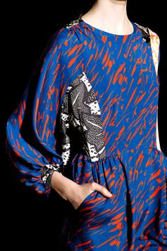 Dries Van Noten, Fall 2011 RTW - idea for dress - patterned patches