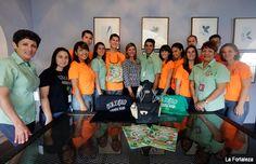 Estudiantes horticultores de visita en La Fortaleza