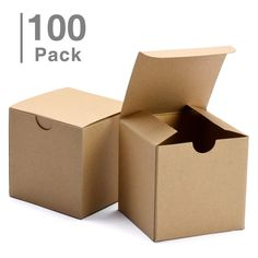 Biodegradable Kraft//Craft Favor Treat Gable Boxes 24CT Black, Small Gift Boxes 2 Dozen