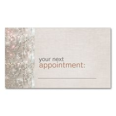 Modern and Hip Business Sequin Appointment Card Business Card Template. This is a fully customizable business card and available on several paper types for your needs. You can upload your own image or use the image as is. Just click this template to get started!