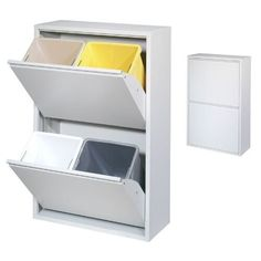 70 Simplistic cupboard for trash cans Recycling Containers, Recycling Bins, Hotel Bedroom Decor, Cabinet Furniture, Diy Storage, Ikea Storage Bins, Küchen Design, Home Organization, Cupboard