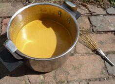 Peinture à la farine - Ocre jaune