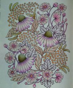 WIP! #blomstermandala #mariatrolle #livrodecolorir #coloringbookforadults…