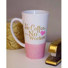 No Coffee No Workee Glitter Mug - Glitter Dipped Mug - Boss Coffee Mug - Coworker Gift - Funny Coffee Mug No Coffee.No Workee Personalized Coffee Mug // Glitter Dipped Coffee Mug // Boss Coffee Mug // Coworker Gift // Funny Coffee Mug Cute Coffee Mugs, Cute Mugs, Coffee Love, Coffee Cups, Tea Cups, Diy Mugs, Personalized Coffee Mugs, Boss Coffee, Men Coffee