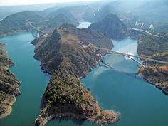 ''Embalse de Alcantara'': Extremadura, Spain :)  It would be awesome to visit