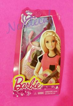 BARBIE FASHION 5 PACK Pink Glam GUITAR HEADSET TAMBORINE PICK MUSIC SET New  #Mattel