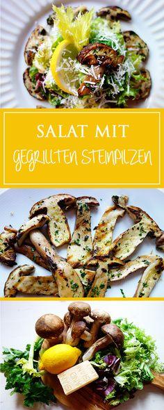 Salat mit gegrillten Steinpilzen - ein einfaches & aromatisches Rezept für einen herrlichen italienischen Herbst-Salat! Zudem glutenfrei & vegetarisch! 🍂🇮🇹❤️ | cucina-con-amore.de