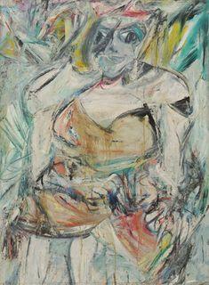 "Woman, II  Willem de Kooning (American, born the Netherlands. 1904-1997)    1952. Oil on canvas, 59 x 43"" (149.9 x 109.3 cm). Gift of Blanchette Hooker Rockefeller. © 2012 The Willem de Kooning Foundation / Artists Rights Society (ARS), New York"