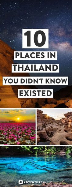 Thaialand Planning to travel to Thailand? Consider adding these stunning places to your trip itinerary. Here are 10 unusual places in Thailand that you probably didn't even know existed! Thailand Destinations, Thailand Vacation, Thailand Travel Tips, Travel Destinations, Backpacking Thailand, Visit Thailand, Thailand Honeymoon, Krabi Thailand, Backpacking Tips